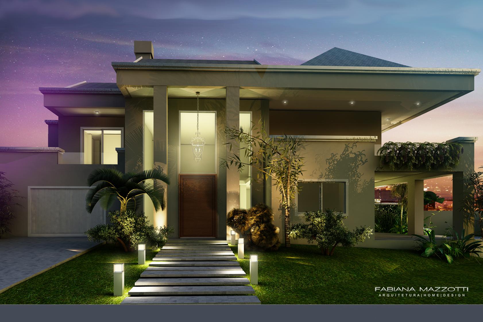 Casa mans o com piscina fabiana mazzotti arquiteta for Fotos de casas modernas brasileiras